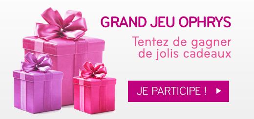 Tentez de gagner de jolis cadeaux au Grand Jeu Ophrys !